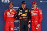 2019年F1第18戦メキシコGP PP:マックス・フェルスタッペン、2番手:シャルル・ルクレール、3番手:セバスチャン・ベッテル