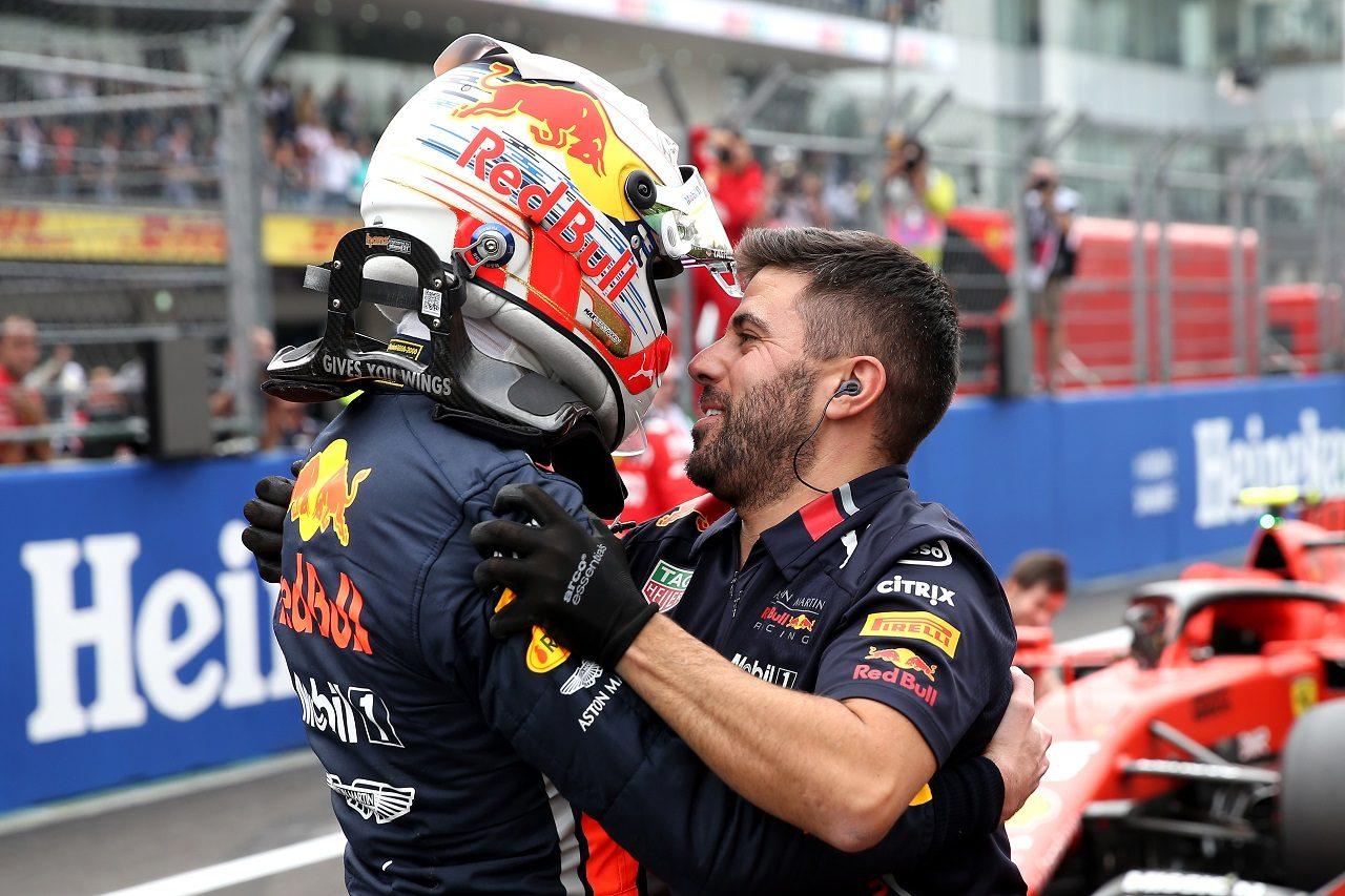 2019年F1第18戦メキシコGP ポールポジションを獲得したマックス・フェルスタッペン(レッドブル・ホンダ)