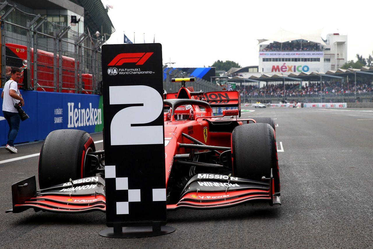 2019年F1第18戦メキシコGP シャルル・ルクレール(フェラーリ)が予選で2番手タイムをマーク