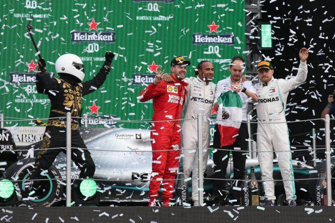 2019年F1第18戦メキシコGP 優勝はルイス・ハミルトン、2位セバスチャン・ベッテル、3位バルテリ・ボッタス