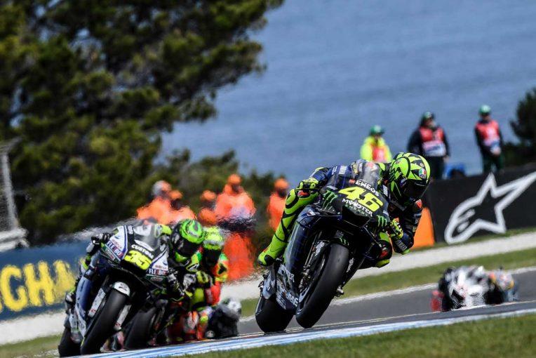 MotoGP   MotoGPオーストラリアGP:ロッシ、序盤のトップ走行で「400戦目のレースをお祝いできた」