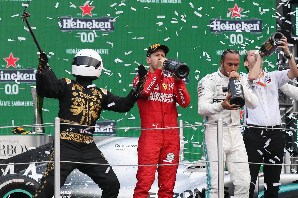 2019年F1第18戦メキシコGP 表彰台