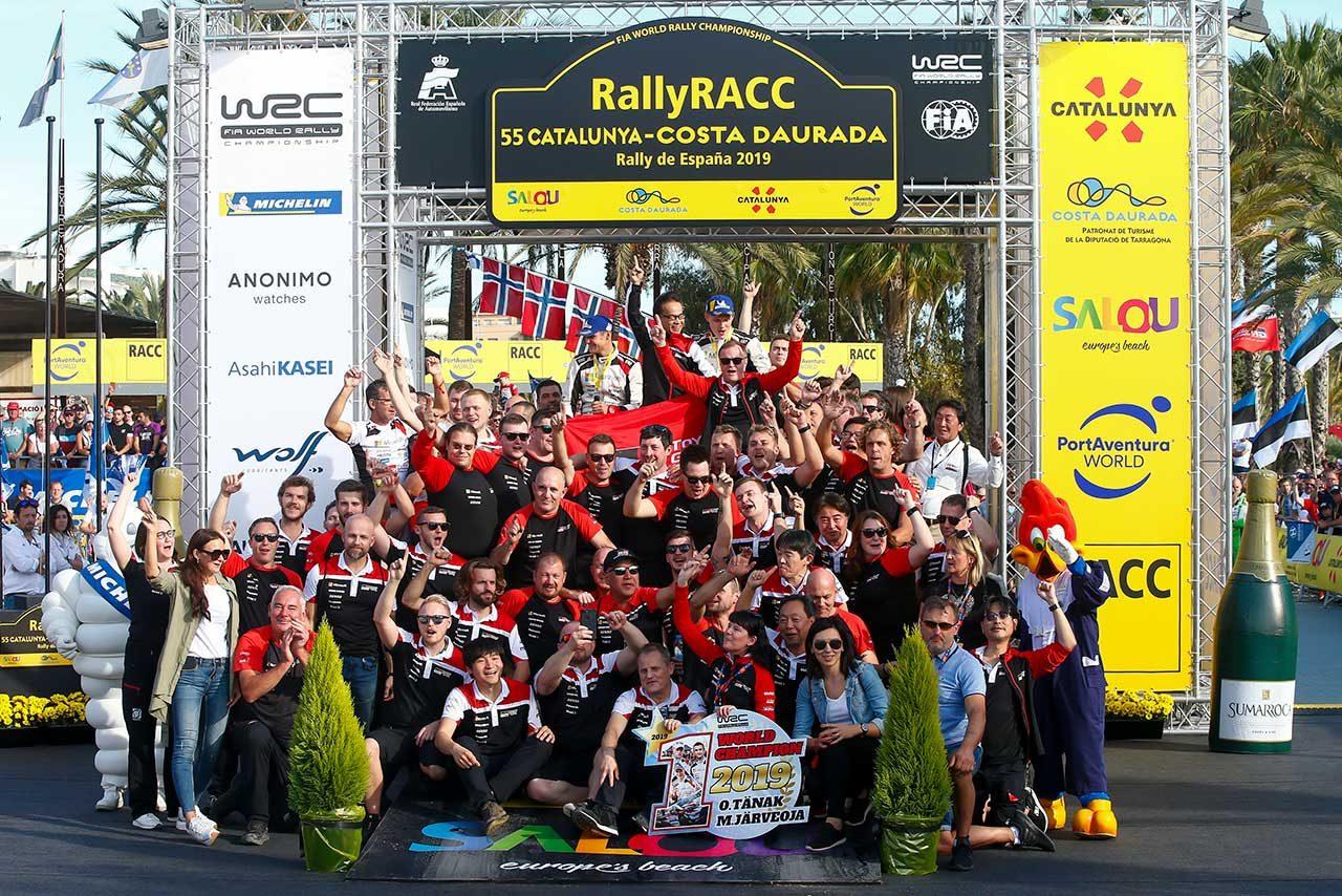 2019WRC第13戦スペイン 表彰台