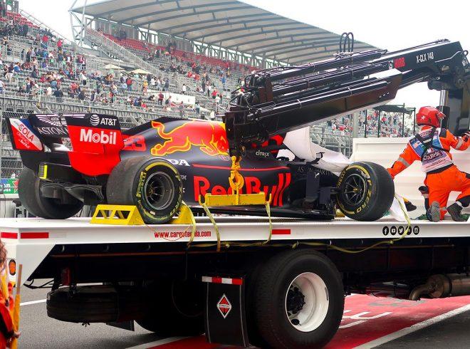 2019年F1第18戦メキシコGP 金曜フリー走行2回目にクラッシュしてしまったアレクサンダー・アルボン