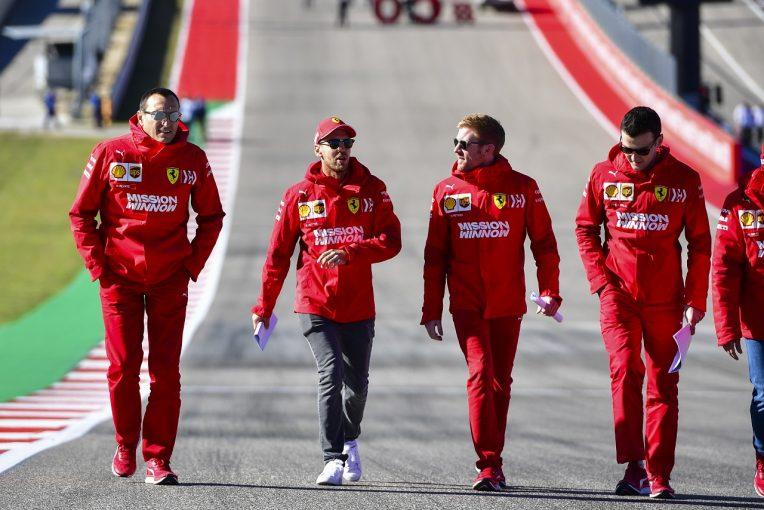 F1 | アメリカGPでの連勝を狙うフェラーリF1、接戦を予想。「金曜にタイヤの理解を深めることが重要」とベッテル