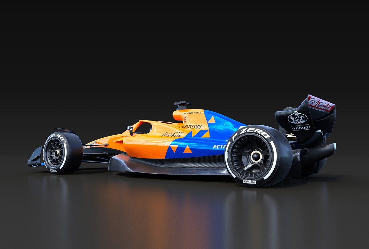 2021年規定に則ったマクラーレンF1マシン(イメージ)