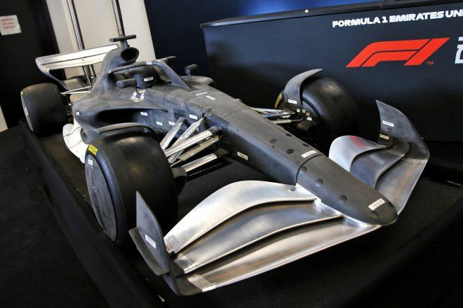 2021年規則発表の際に公開された新F1のモデルカー