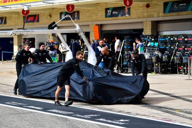 2019年F1第19戦アメリカGP金曜 クラッシュしたロマン・グロージャンのマシン