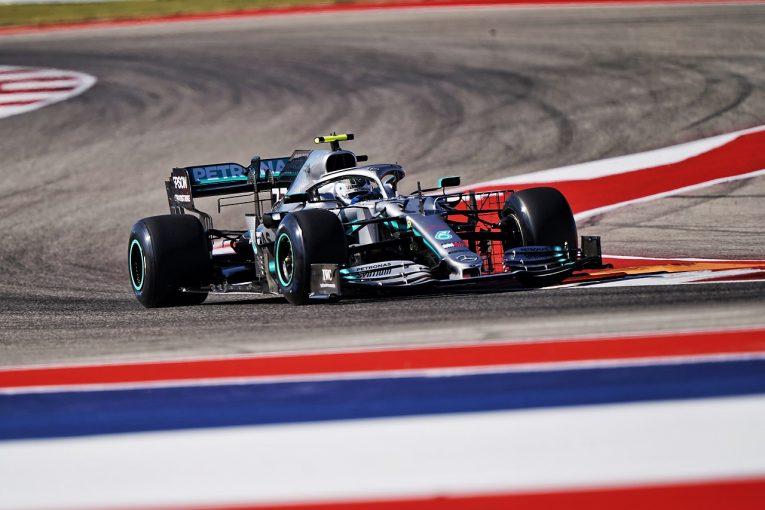 F1 | メルセデスはFP1で2020年タイヤのテストに集中。ボッタス「タイムを気にせずデータ収集。興味深い作業だった」