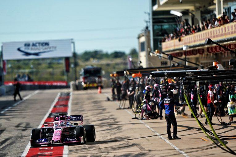 F1   レーシングポイントのペレス、FIA重量測定の指示に従わず、ピットレーンスタートのペナルティ:F1アメリカGP