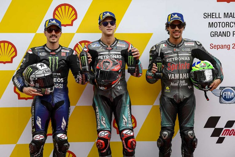 MotoGP   クアルタラロ「マルクが背後にいることを知っていた」/MotoGP第18戦マレーシアGP 予選トップ3コメント