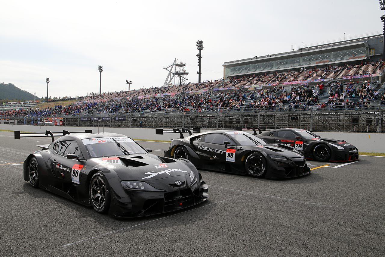 スーパーGT:2020年のGT500クラス1車両がもてぎでデモラン。ファンにその勇姿をお披露目