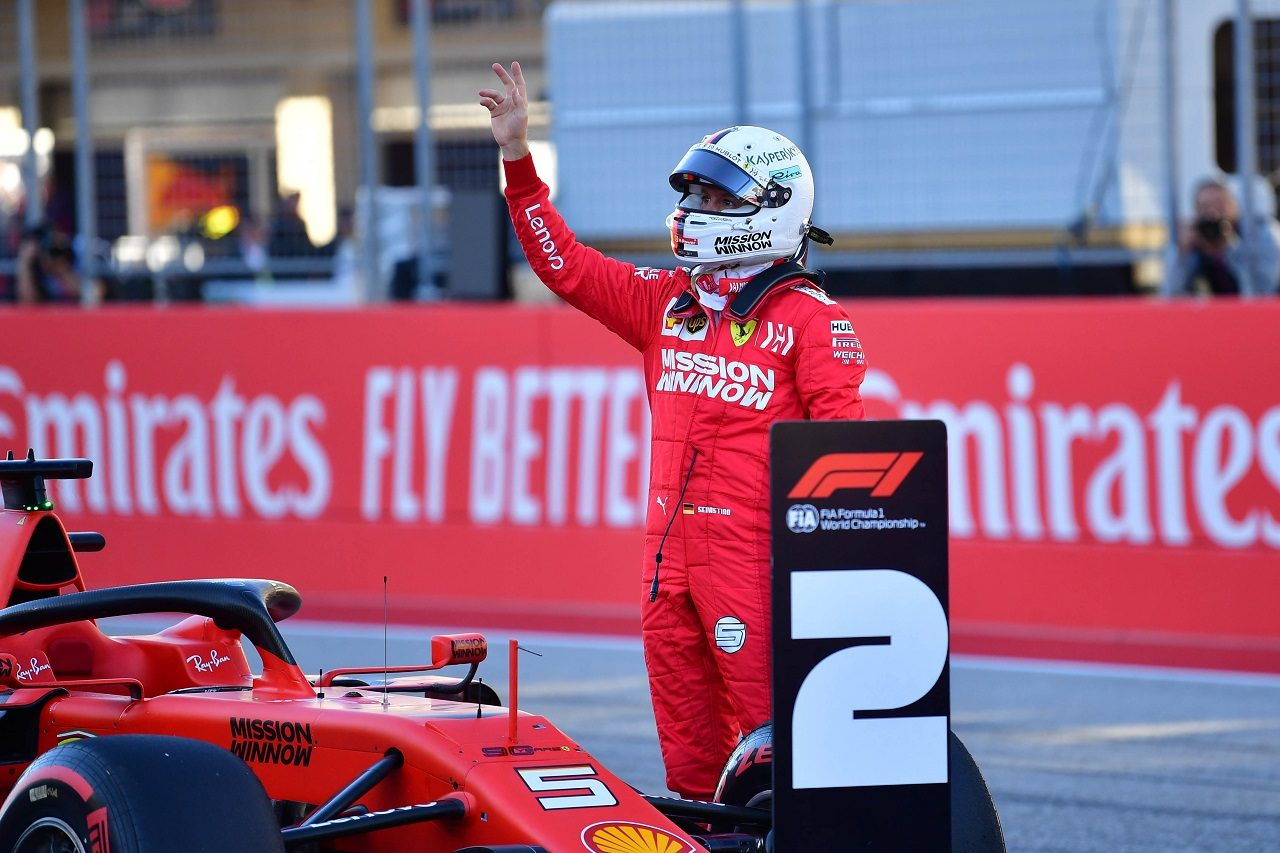 2019年F1第19戦アメリカGP セバスチャン・ベッテル(フェラーリ)が予選2番手