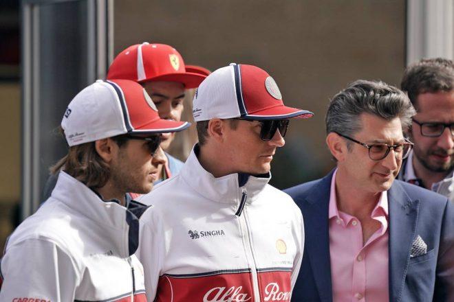 2019年F1第19戦アメリカGP決勝 キミ・ライコネン、アントニオ・ジョビナッツィ(アルファロメオ)