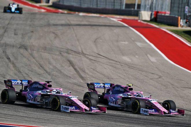 2019年F1第19戦アメリカGP決勝 セルジオ・ペレス、ランス・ストロール(レーシングポイント)