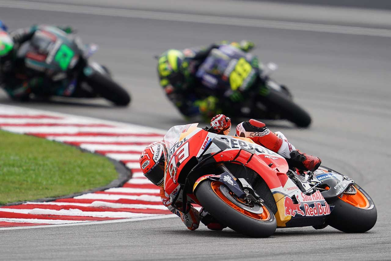 MotoGPマレーシアGP:ビニャーレスが2位のマルケスに3秒差をつけて独走優勝。2019年シーズン2勝目飾る