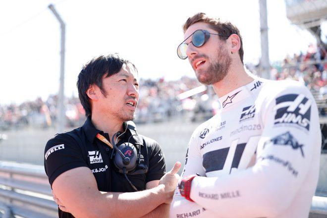 2019年F1第19戦アメリカGP ロマン・グロージャン、小松礼雄チーフエンジニア