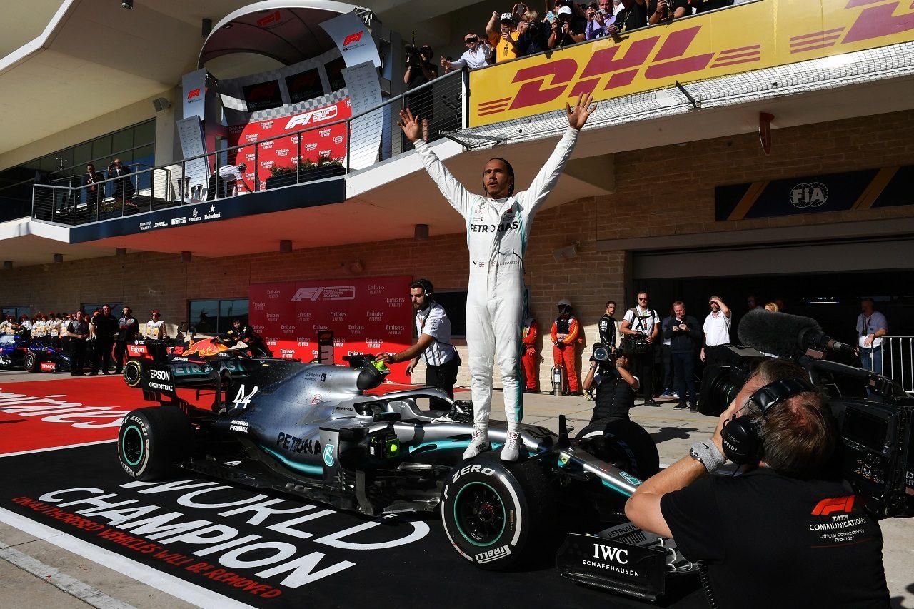 2019年F1第19戦アメリカGP ルイス・ハミルトン(メルセデス)が6度目のタイトルを獲得