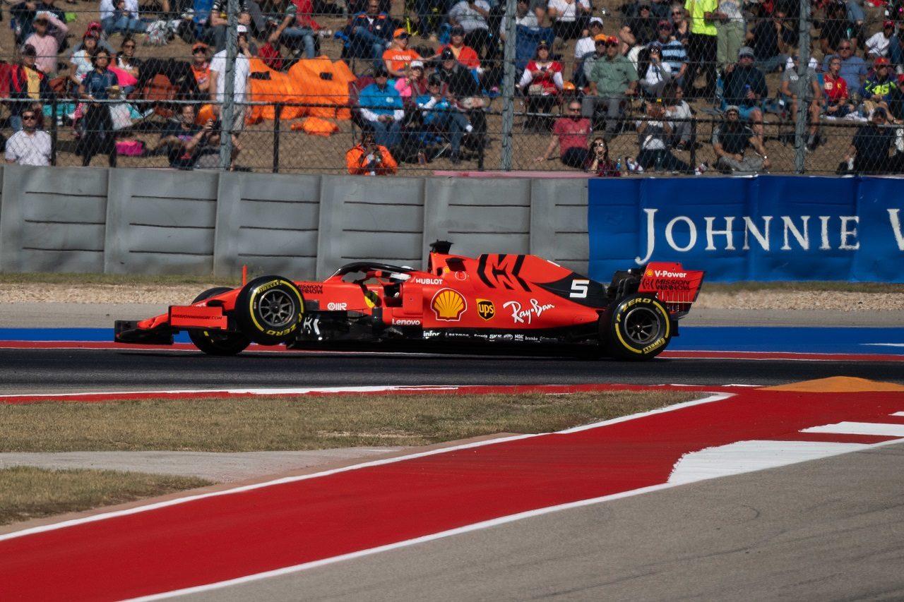 2019年F1第19戦アメリカGP セバスチャン・ベッテル(フェラーリ)、サスペンション故障でリタイア