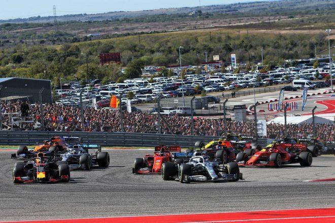 2019年F1第19戦アメリカGP決勝レーススタート