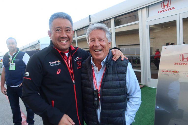 F1   【あなたは何しに?】元F1チャンピオンのマリオ・アンドレッティがホンダを激励