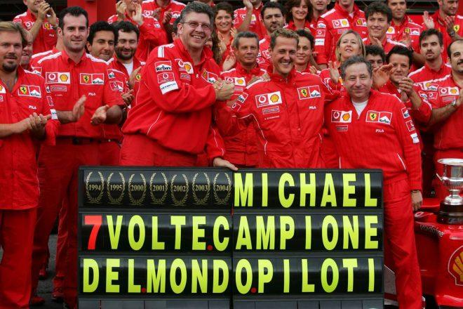 2004年に7度目のワールドチャンピオンに輝いたミハエル・シューマッハー