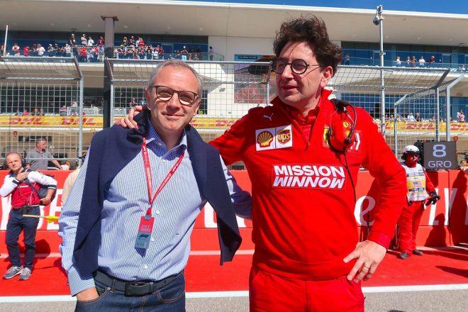 2019年F1第19戦アメリカGP 右:フェラーリ代表のマティア・ビノット