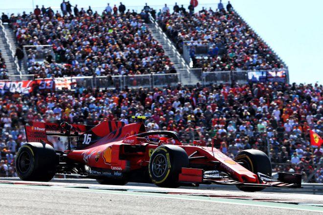 2019年F1アメリカGPでのシャルル・ルクレール(フェラーリ)