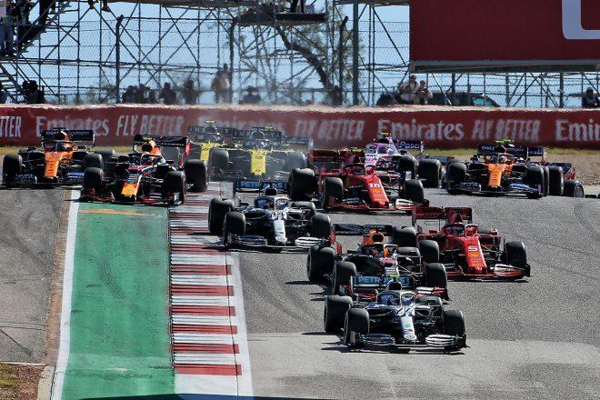 2019年F1第19戦アメリカGP スタートシーン