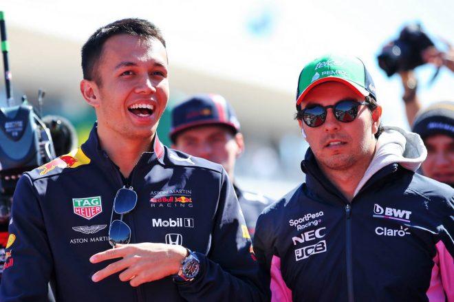 2019年F1第19戦アメリカGP セルジオ・ペレス(レーシングポイント)、アレクサンダー・アルボン(レッドブル・ホンダ)