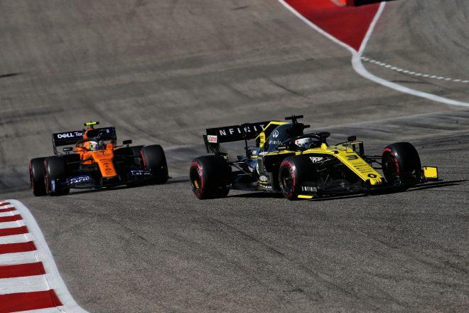 2019年F1アメリカGP ダニエル・リカルド(ルノー)とランド・ノリス(マクラーレン)