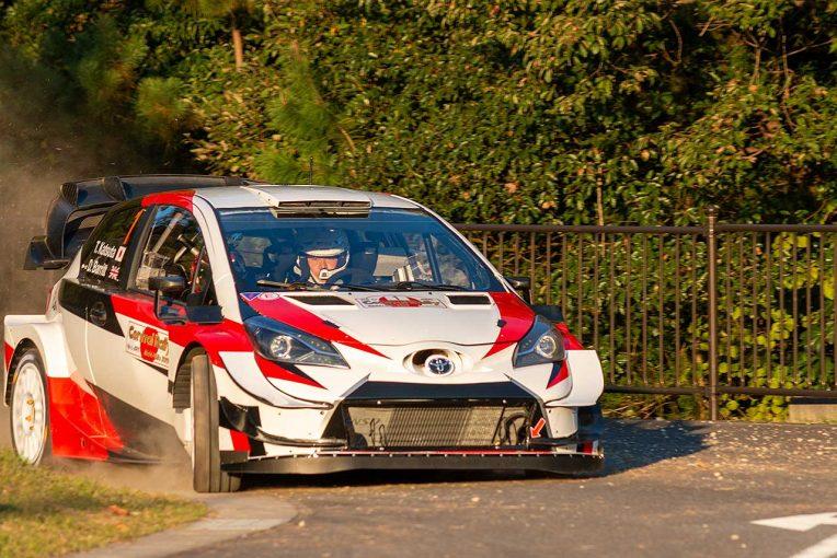 ラリー/WRC | トヨタ・ヤリスWRCがモリコロパーク初走行。セントラル・ラリー愛知/岐阜のシェイクダウンで