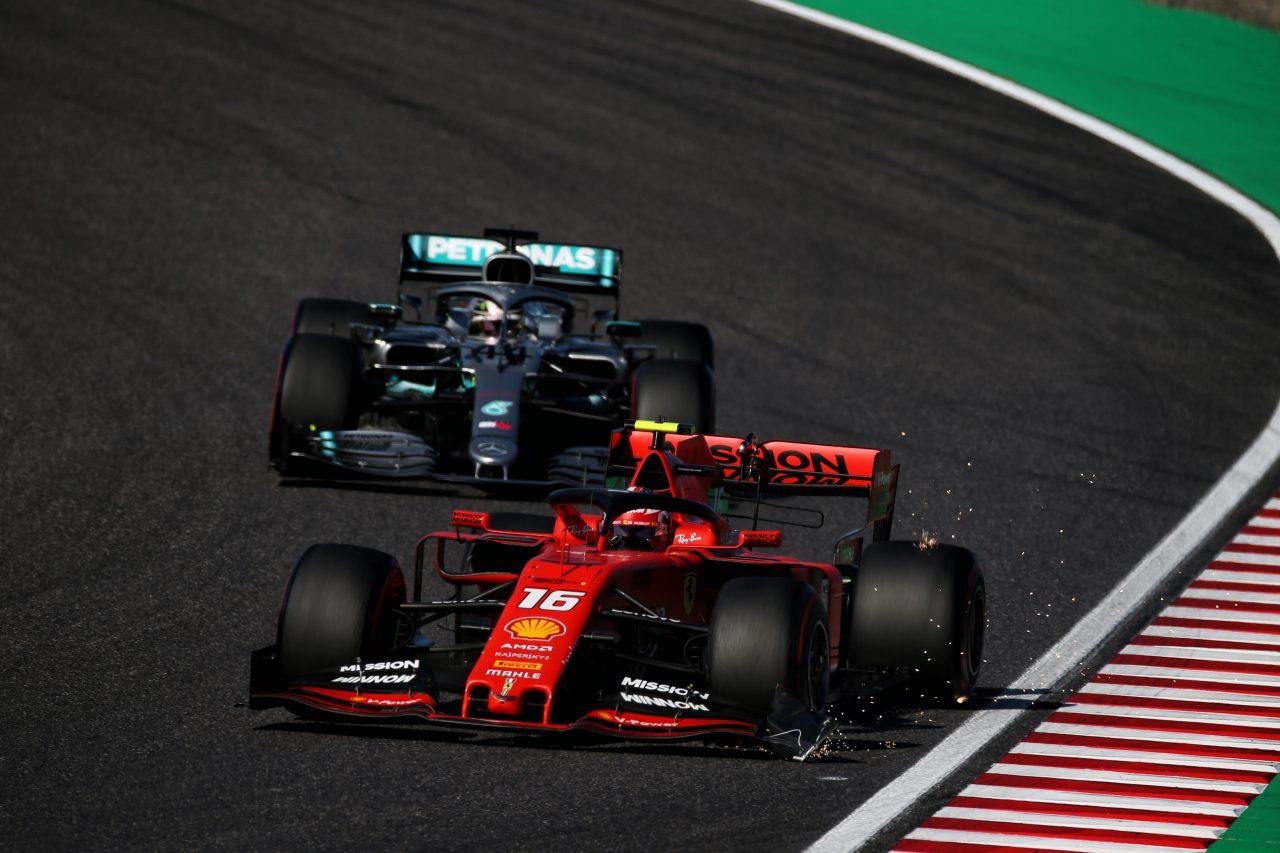 2019年F1日本GPでのルクレールとハミルトン