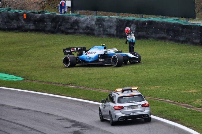 2019年F1第20戦ブラジルGP初日 ロバート・クビサ(ウイリアムズ)がFP2でクラッシュ