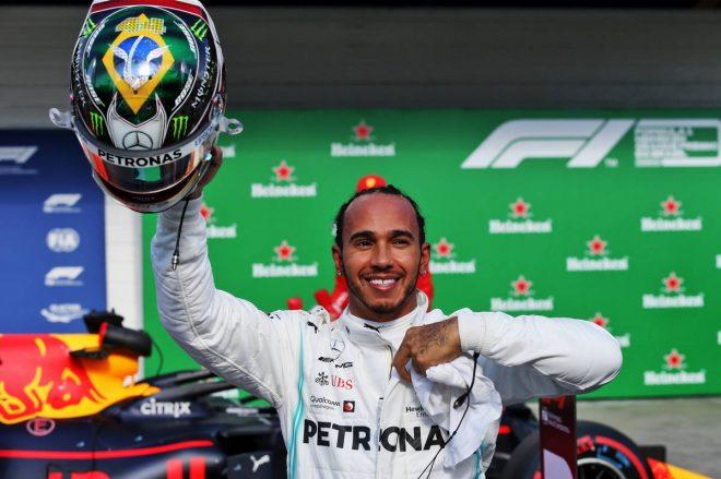 2019年F1第20戦ブラジルGP予選3番手となったルイス・ハミルトン(メルセデス)