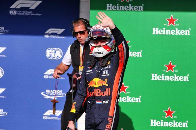 2019年F1第20戦ブラジルGP予選ポールポジションのマックス・フェルスタッペン(レッドブル・ホンダ)