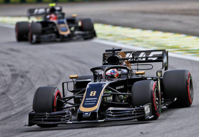 2019年F1第20戦ブラジルGP予選Q3に進出したロマン・グロージャンとケビン・マグヌッセン