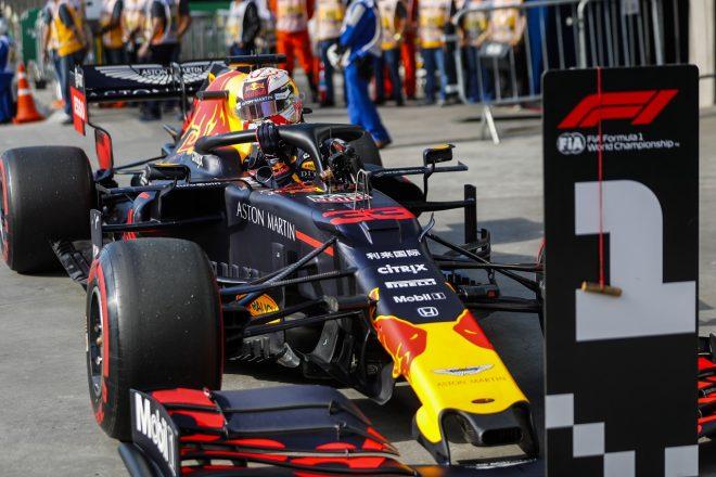2019年F1第20戦ブラジルGP マックス・フェルスタッペン(レッドブル・ホンダ)がポールポジションを獲得