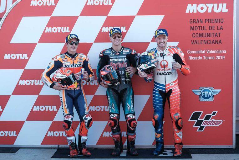 MotoGP   最終戦、ポールスタートのクアルタラロ「いい形でレースを終えられると思う」/MotoGP第19戦バレンシアGP 予選トップ3コメント