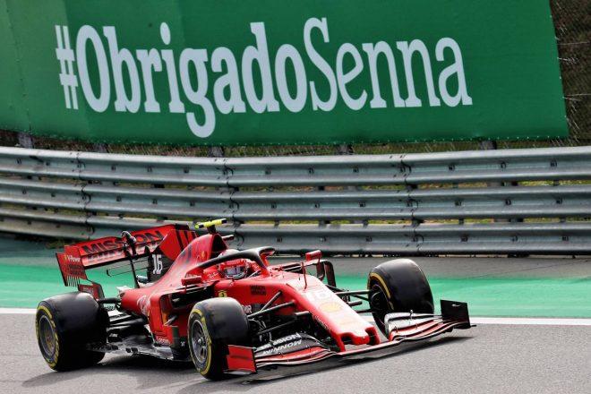2019年F1第20戦ブラジルGP予選日 シャルル・ルクレール(フェラーリ)