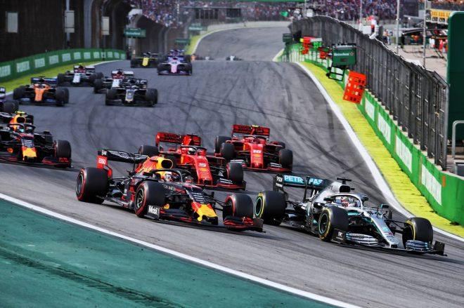 2019年F1第20戦ブラジルGP 決勝レーススタート