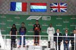 2019年F1第20戦ブラジルGP 表彰台