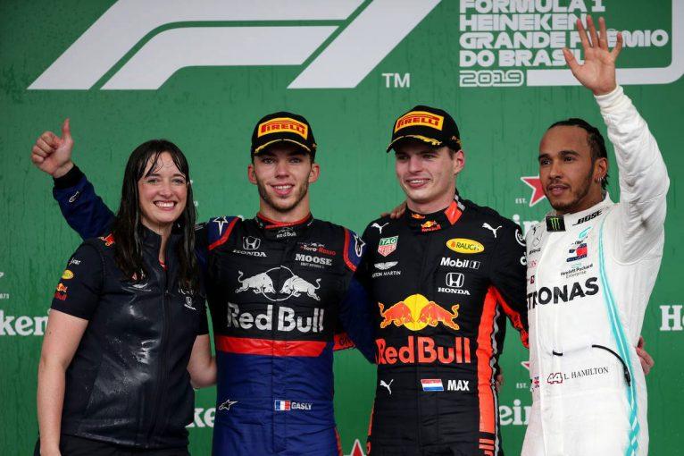 F1 | F1名レース無料配信 2019年ブラジルGP:ホンダ勢が王者メルセデスに競り勝ちワンツー。28年ぶりの快挙を達成