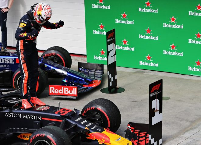2019年F1第20戦ブラジルGP マックス・フェルスタッペン(レッドブル・ホンダ)が優勝