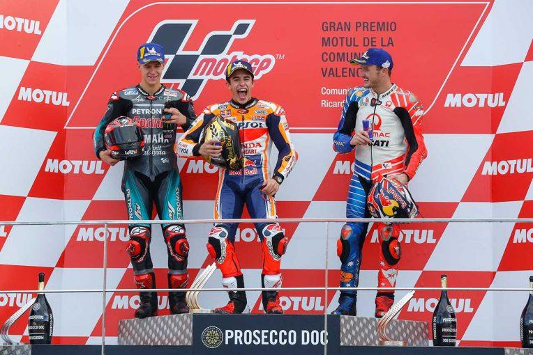 MotoGP | マルケス、最終戦での優勝に「最高の形でシーズンを終えられた」/MotoGP第19戦バレンシアGP 決勝トップ3コメント