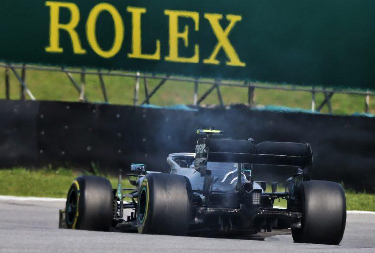 F1 | ボッタス、F1アブダビGPでパワーユニット交換によりグリッド降格か。ブラジルでのトラブルの影響で