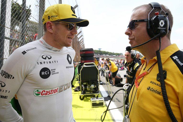 F1 | ヒュルケンベルグ「セーフティカー導入時とリスタートでのバトルは楽しかったが、結果を出せなかった」:ルノー F1ブラジルGP日曜