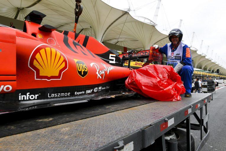 F1 | ベッテル「ルクレールを抜き返すチャンスがあったから仕掛けただけ。なぜ当たってしまったのか分からない」