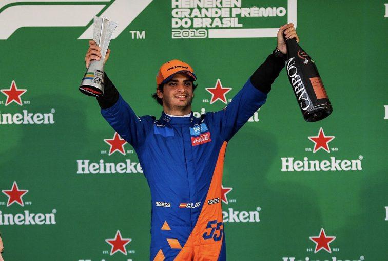 F1   サインツが初の表彰台「表彰式に出られなかったのは変な感じだけど最高の気分!」:マクラーレン F1ブラジルGP