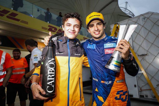 2019年F1第20戦ブラジルGP カルロス・サインツJr.とランド・ノリス(マクラーレン)